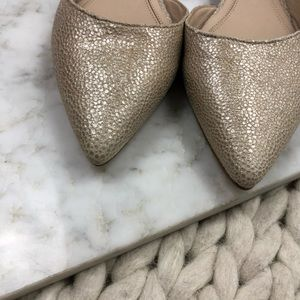 Marc Fisher Shoes - Marc Fisher Gold Metallic D'orsay Pointed Flats